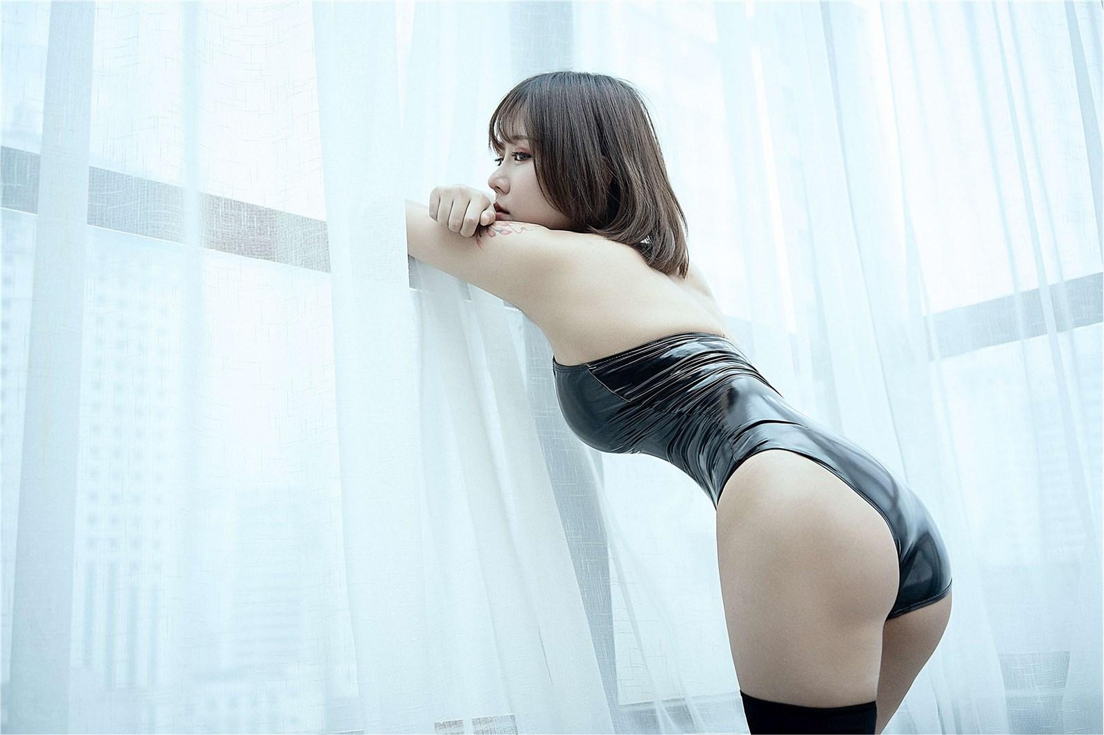 汐 NO.001 黑色皮泳装(4)